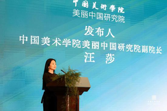 中國美術學院美麗中國研究院副院長汪莎作美麗中國研究院發布