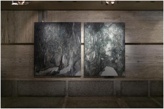 《紫林》《洛伽岩》王亚彬 / 布面油画 / 165x146cm 164x125cm / 2017