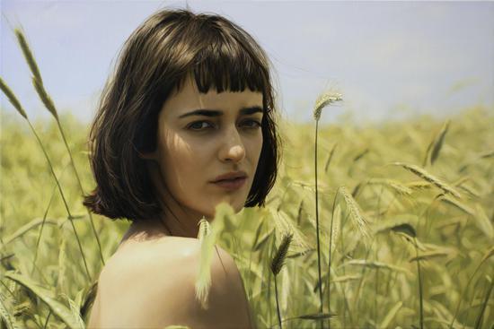 :Olya 布面油画 Oil on canvas 91x137cm 2018 (2)