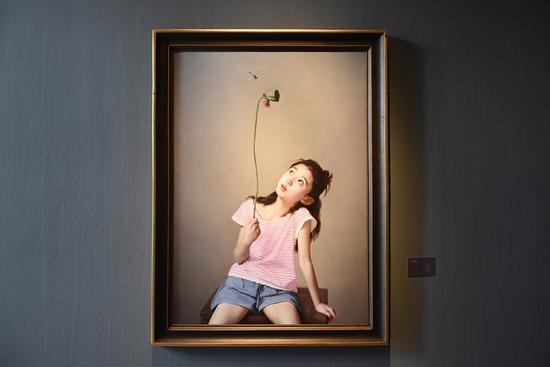 《蜻蜓》布面油画132x113cm 2016年