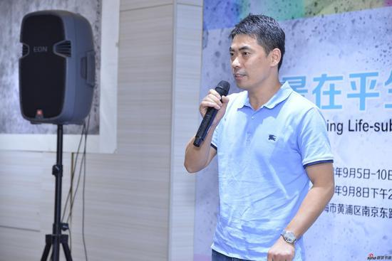 中国国家画院研究员,《中国美术报》副总编陈明先生致词