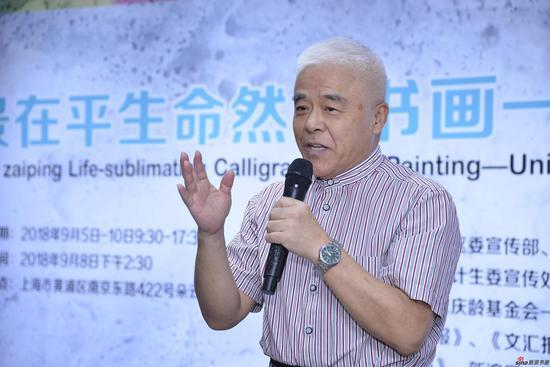 上海杉达大学传媒学院院长、上海教育电视台原副台长 、上海教育报刊总社原党委书记张伯安先生致词