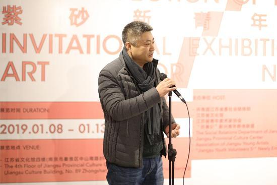 江苏省青年美术家协会副主席、秘书长罗拥军发言