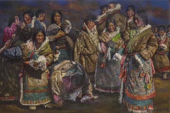 《正月》200x135cm 油画
