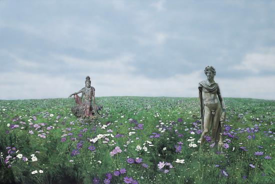 神与佛The God and The Buddha 布面丙烯Acrylic on Canvas200x300cm2012