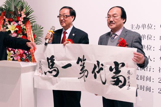 ▲原三河市检察院检察长、中书协会会员蒋志忠