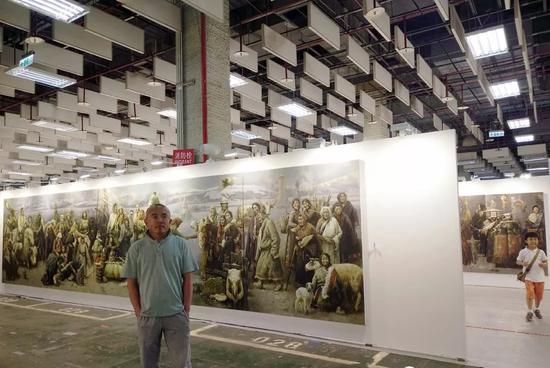 巨幅油画《天堂渡》参加台北艺博会被收藏。感谢主办方把作品放在重要的位置。