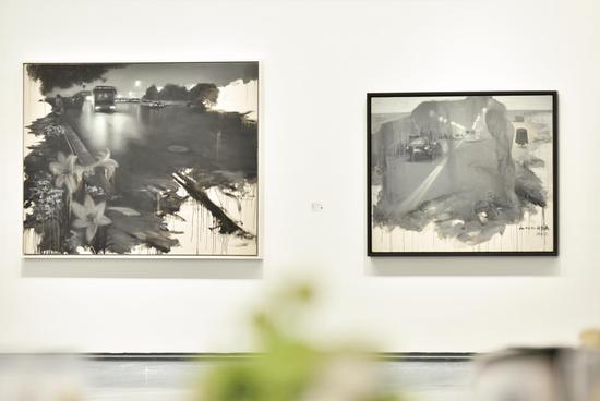 刘芯涛作品 《溃夜》(左) 《通道》(右)