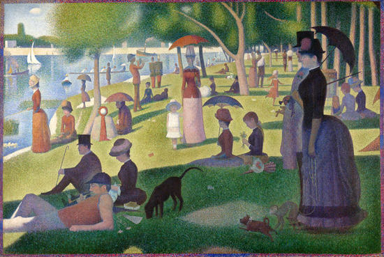 《大腕岛的星期天》A Sunday on La Grande Jatte,1884,乔治.修拉