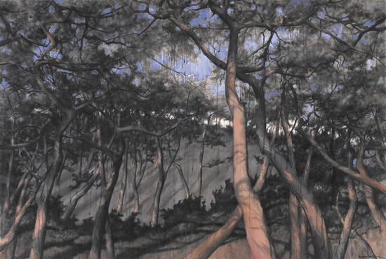 《傲骨--55》赵龙,150x100cm,纸上水彩2017