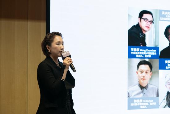 现代汽车文化中心艺术总监徐静介绍 Hyundai Blue Prize 2019 图片来源:现代汽车文化中心