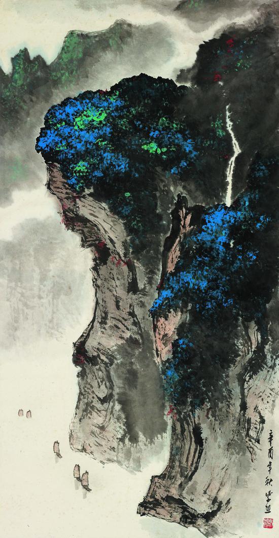 魏紫熙 157568-峡江峭璧 97×50 1981