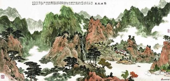 傅二石 山水画《黔西风光》
