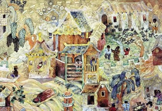 岩彩绘画:中国本土绘画当代转型的生长点