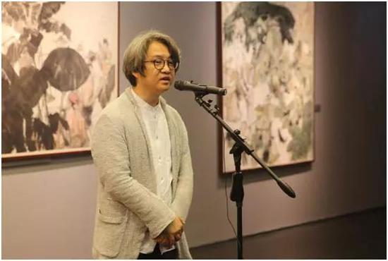 北京画院副院长、北京画院美术馆馆长吴洪亮先生致辞