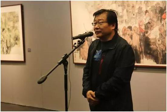 中央美术学院教授、中国画学院副院长李洋先生致辞