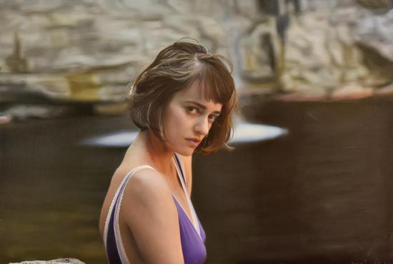 Olya 布面油画 Oil on canvas 50x76cm 2017