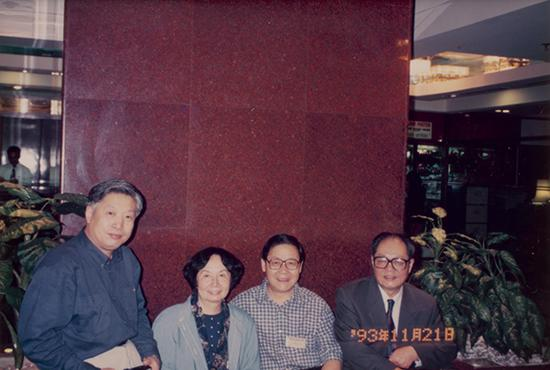 刘梦溪、叶嘉莹、冯其庸与金耀基合影(1993年)