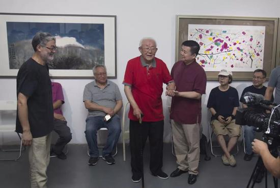 艺术家周韶华开幕致辞