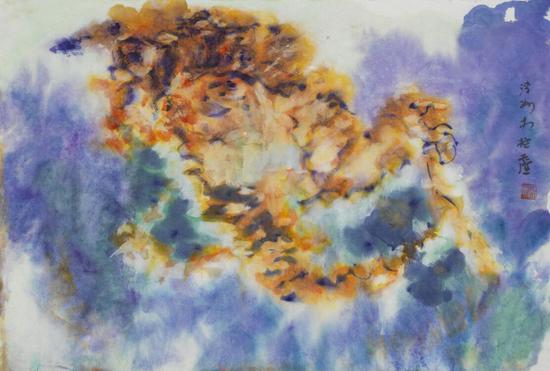 王清州作品 《布达拉宫写生系列之三》45x68cm 纸本水墨 2012