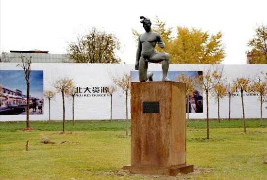 蔡志松作品 《故国·颂4#》100×65×145cm 铸铜2000-2001