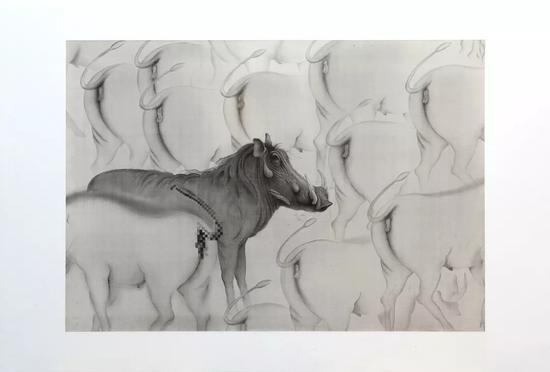 《艺术家》 2018年 绢本水墨 107x154cm