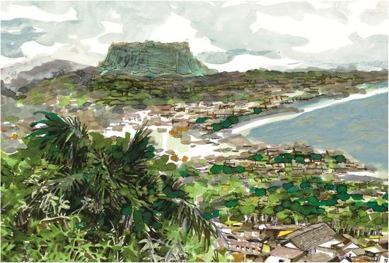 李昆武 - 《巴拉科阿,以云盖(铁砧)山作为背景》