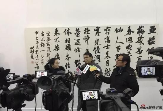 著名画家汪为新 接受媒体采访