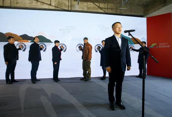 黄山市委副书记范荣晖宣布第二届中国黄山(黟县)青年写生艺术季正式启动