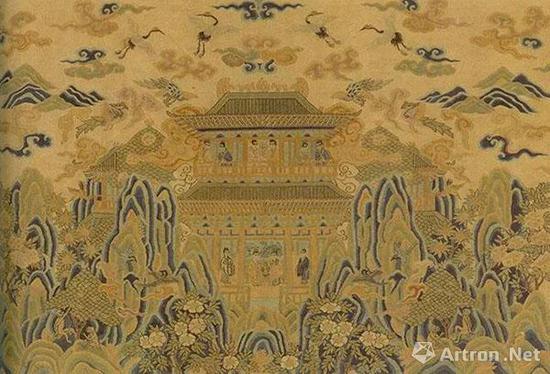 宋 缂丝仙山楼阁   纵25.5厘米,横40.8厘米   台北故宫博物院藏