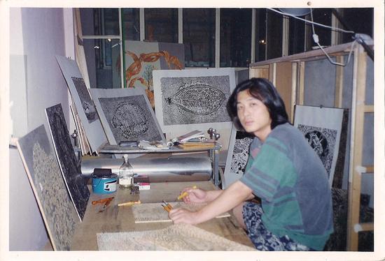 ~2000年,摄于通州区西马庄工作室