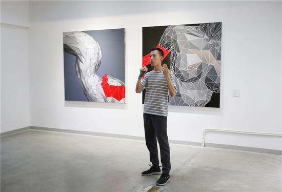 参展艺术家吴伟林致辞