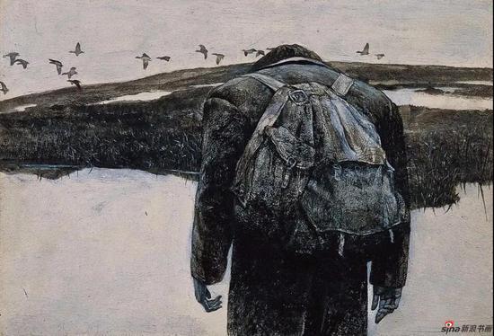 雪雁 纸本丙烯 15.5x23cm 1984
