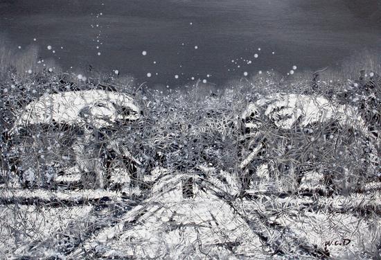 江南-切片系列-148 53x77cm 纸本油画 2017