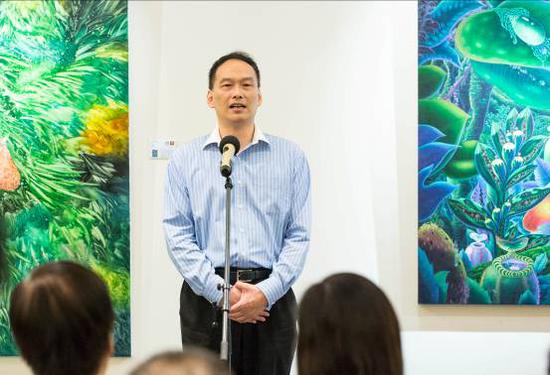 上海艺术馆馆长、上海星迪艺术品投资管理有限公司董事长张若飞先生致欢迎辞