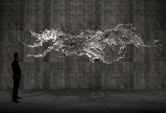 装饰艺术:铂晶艺术(《上善若水》)