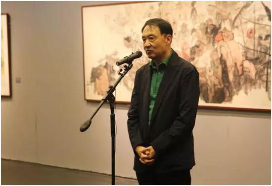 中国美协副主席、北京美协主席、北京画院艺委会主任王明明先生致辞