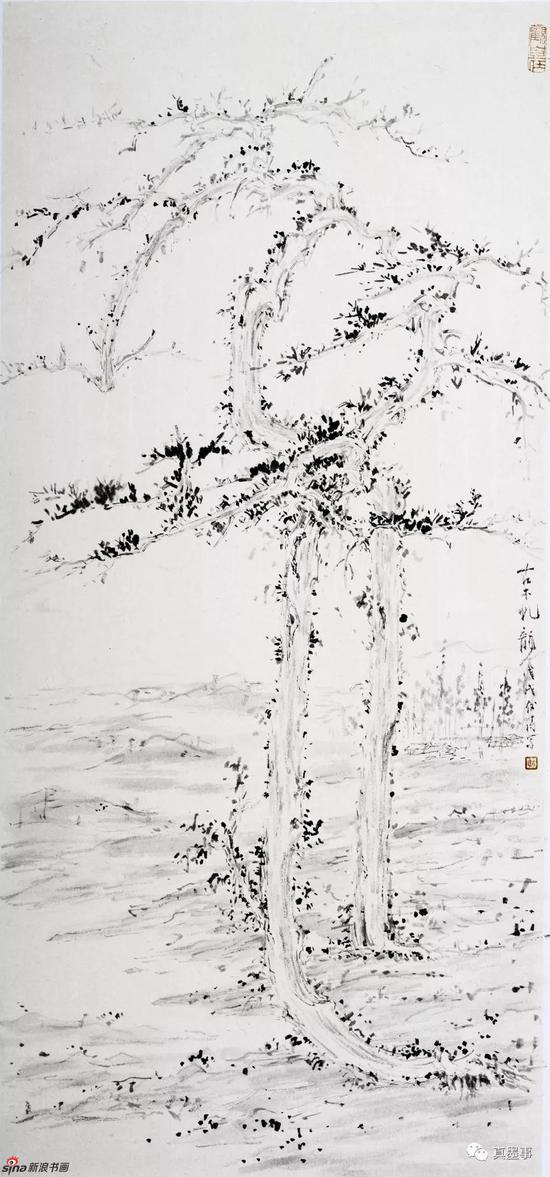 戴俊涛《古木虬龙》70×32cm