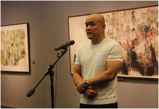 中国国家画院研究员、著名画家史国良先生致辞