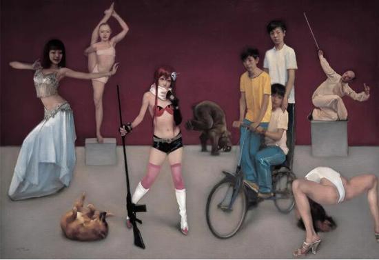 《邂逅之二》布面油画 180cmx260cm 2010