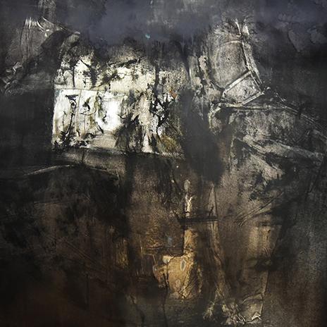 何伟作品  莫No2 铝板油画122cm × 122cm 2018