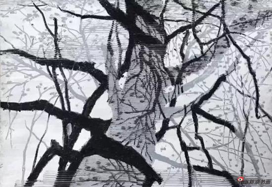 油画《大树》