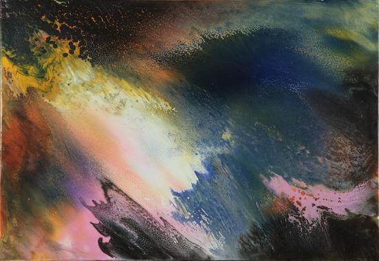星际分子云 油画 56×38cm 2012