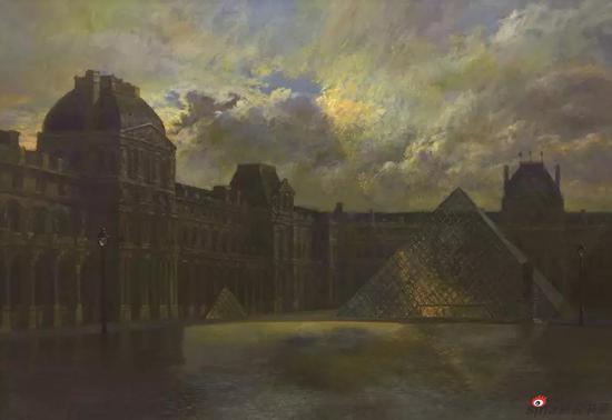 《罗浮宫的灵魂》140X200cm 油画