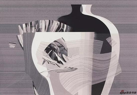 卢治平 《内敛的灰色之二 》 丝网版画 2018