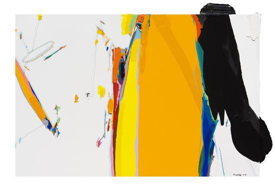 朱佩鸿《我的空间 2018-6》,80×120cm,布面油画与丙烯,2018
