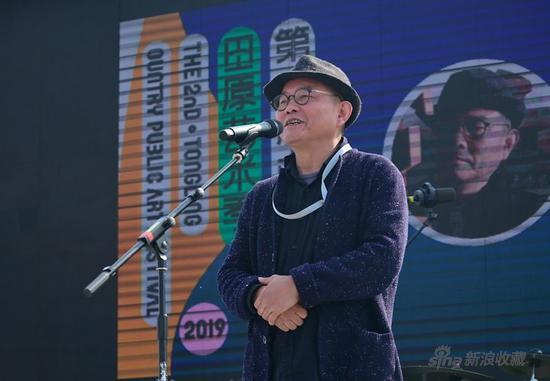 中国雕塑学会副会长、中国美术家协会雕塑艺术委员会副主任、湖北美术馆艺术总监、著名当代雕塑家 傅中望 上台致辞