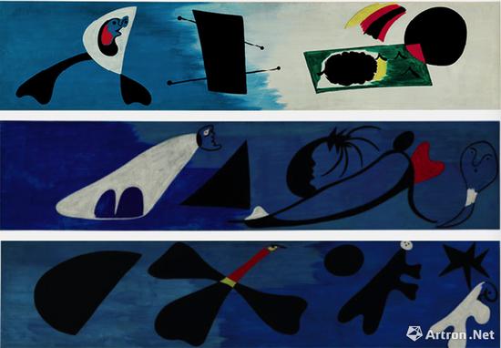 胡安·米罗 (1893-1983) 《壁画 I-II-III》 1933年12月作 2000万美元