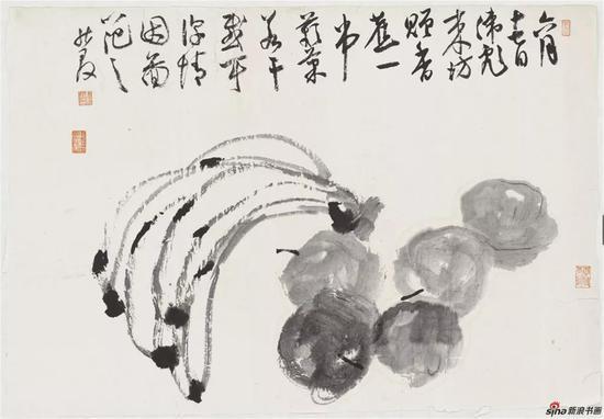 写意水果,纸本,50×34cm,2018年