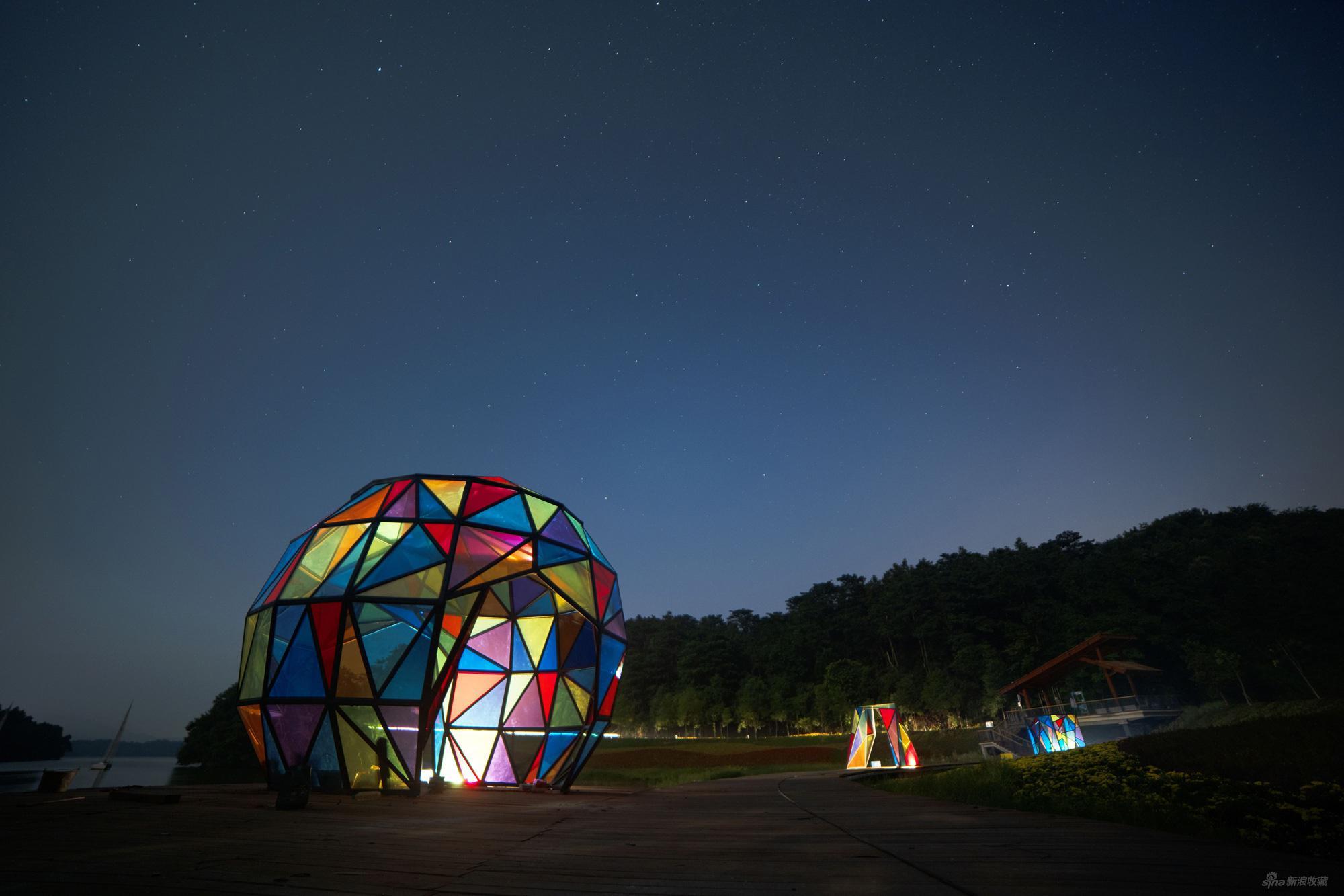 华兴 七彩星愿(一组三件 3# 4# 7#) 彩色玻璃 不锈钢 2020